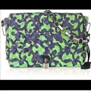 Marc Jacobs Misfit Green Blue Print Bag NWT